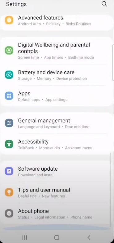 Cara Reset HP Samsung lewat pengaturan